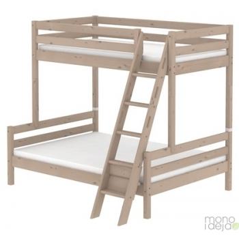 Dviaukštė trivietė lova