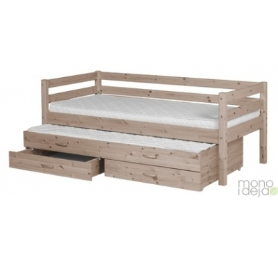 Flexa bed with trundle bed