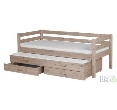 Žema lova dviems su stalčiais