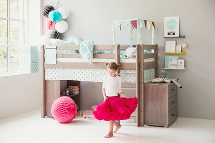 Bed for kid's bedroom. Furniture for the youth.