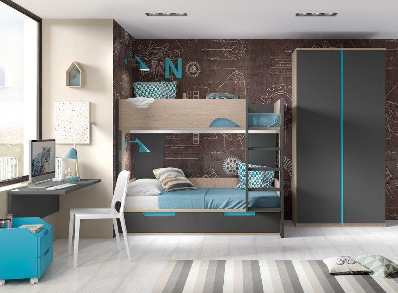 Forma bunk bed for youth room