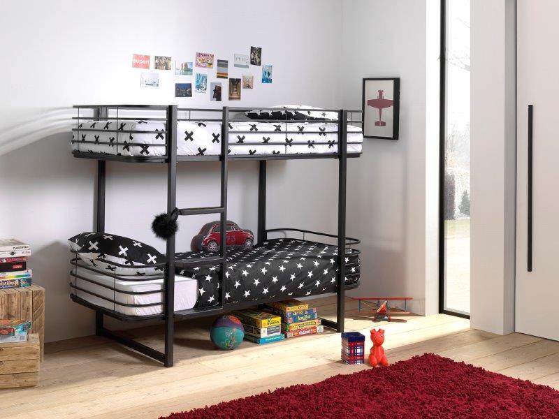 metaline dviaukste lova vaiku kambariui