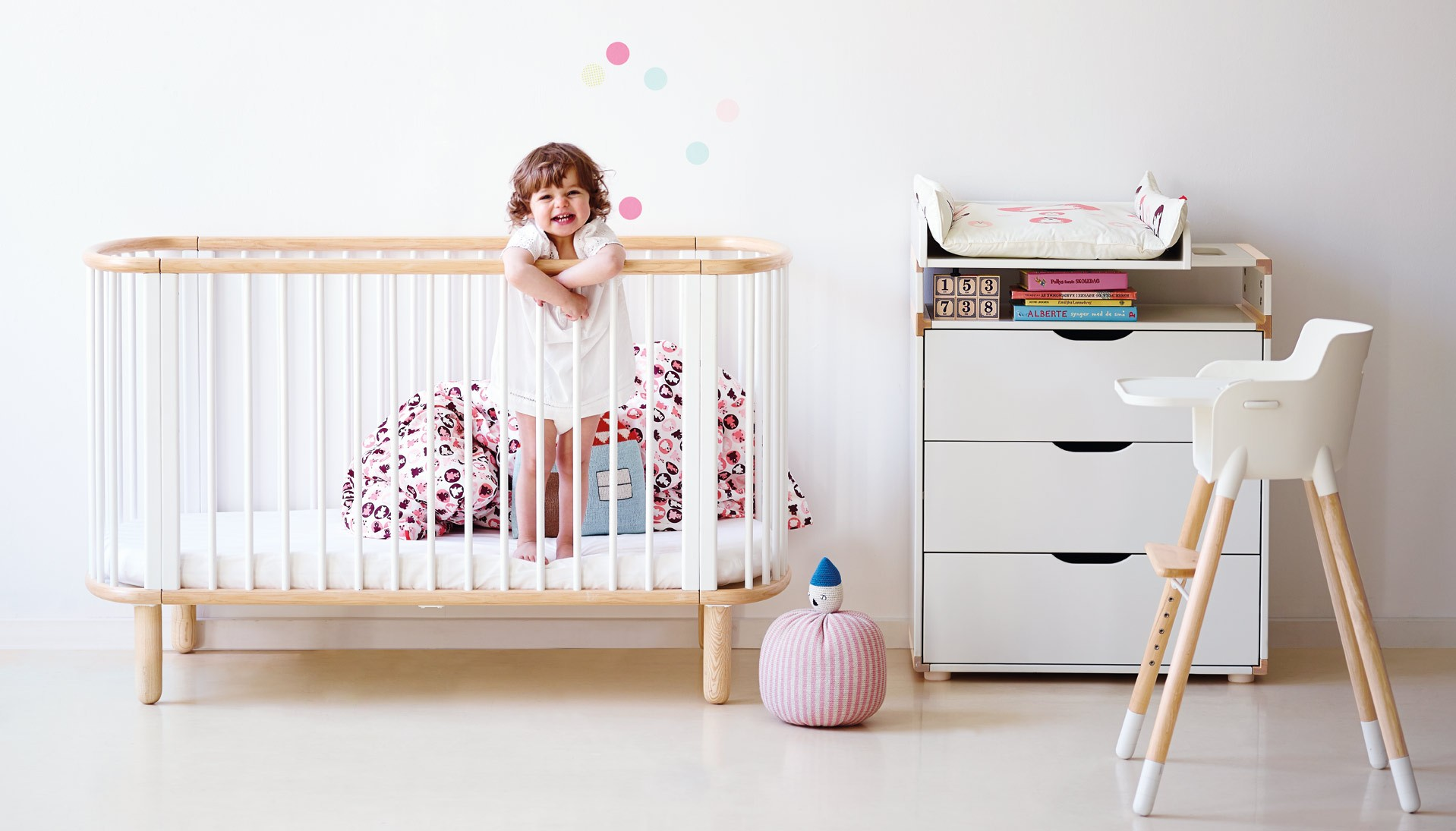Baby cot and furniture for kids