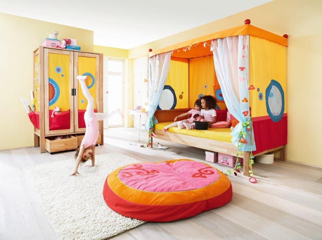 Haba furniture for the kids. Bed for children's room.