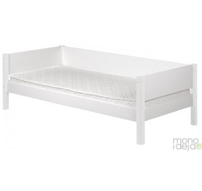 Flexa white bed with rail