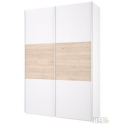 Wardrobe with 2 sliding doors