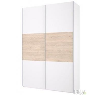 Wardrobe with 2 sliding doors