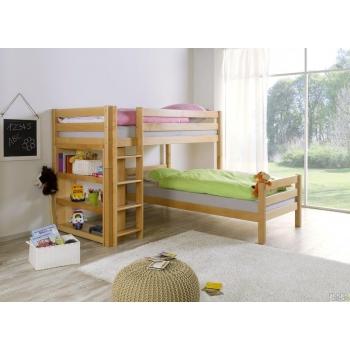 Kampinė dviaukštė lova