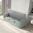 sienine lova su sofa