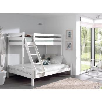 Dviaukštė lova trims