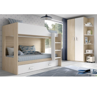 Bunk bed for 3 persons
