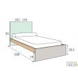 Jaunuolio-lova-vaikams-matmenys